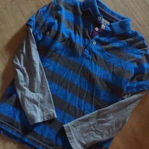 Mini Boden boys 9-10 striped polo double shirt